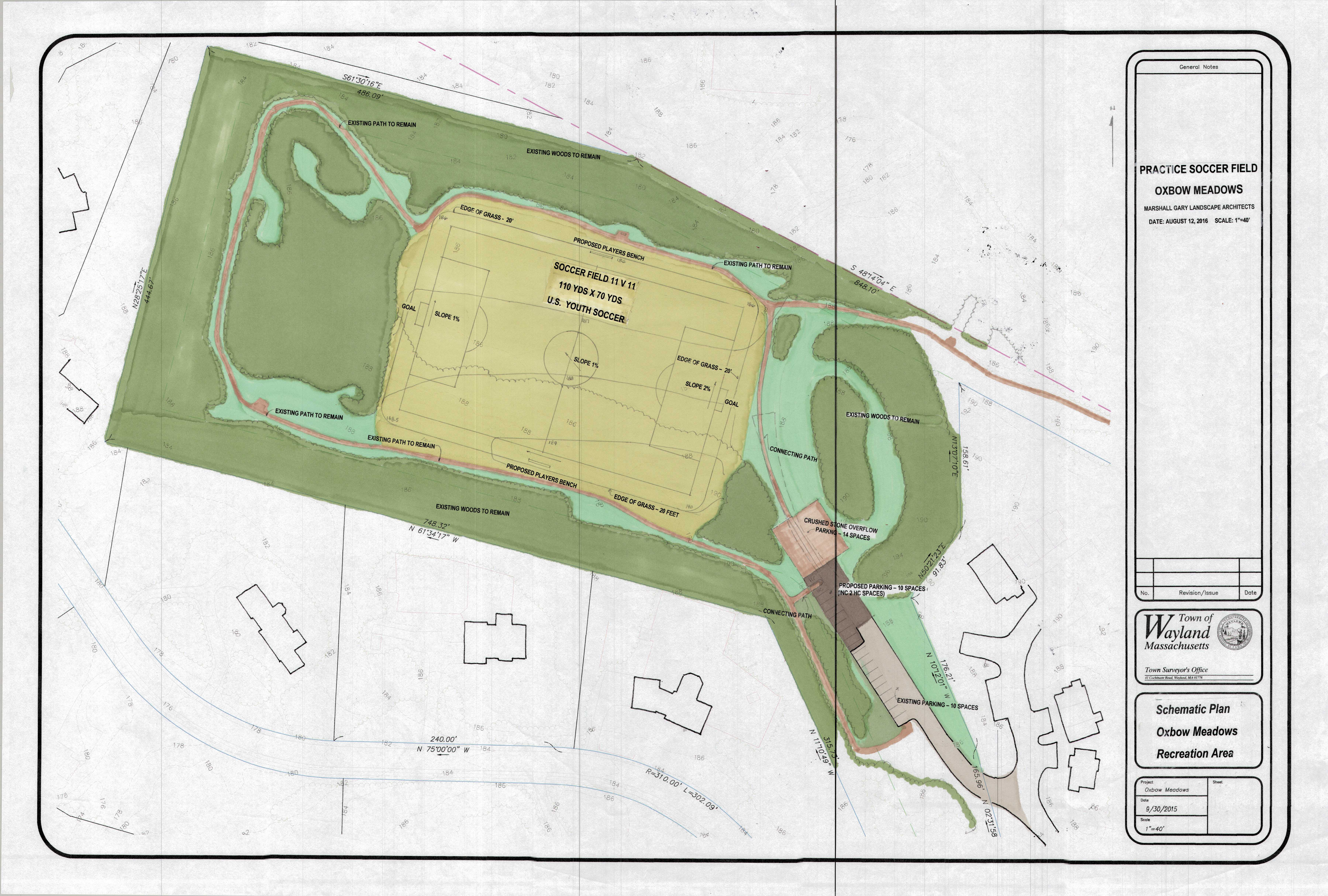 Oxbow Meadows Field Development | waylandrec.com